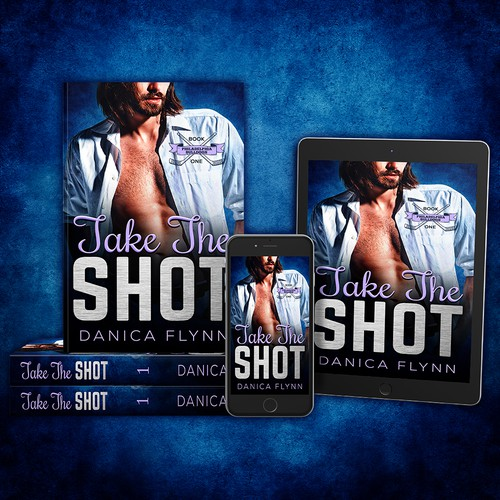 - TAKE THE SHOT - Contemporary romance book cover design
