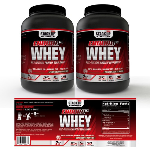WHEY PROTEIN LABEL DESIGN