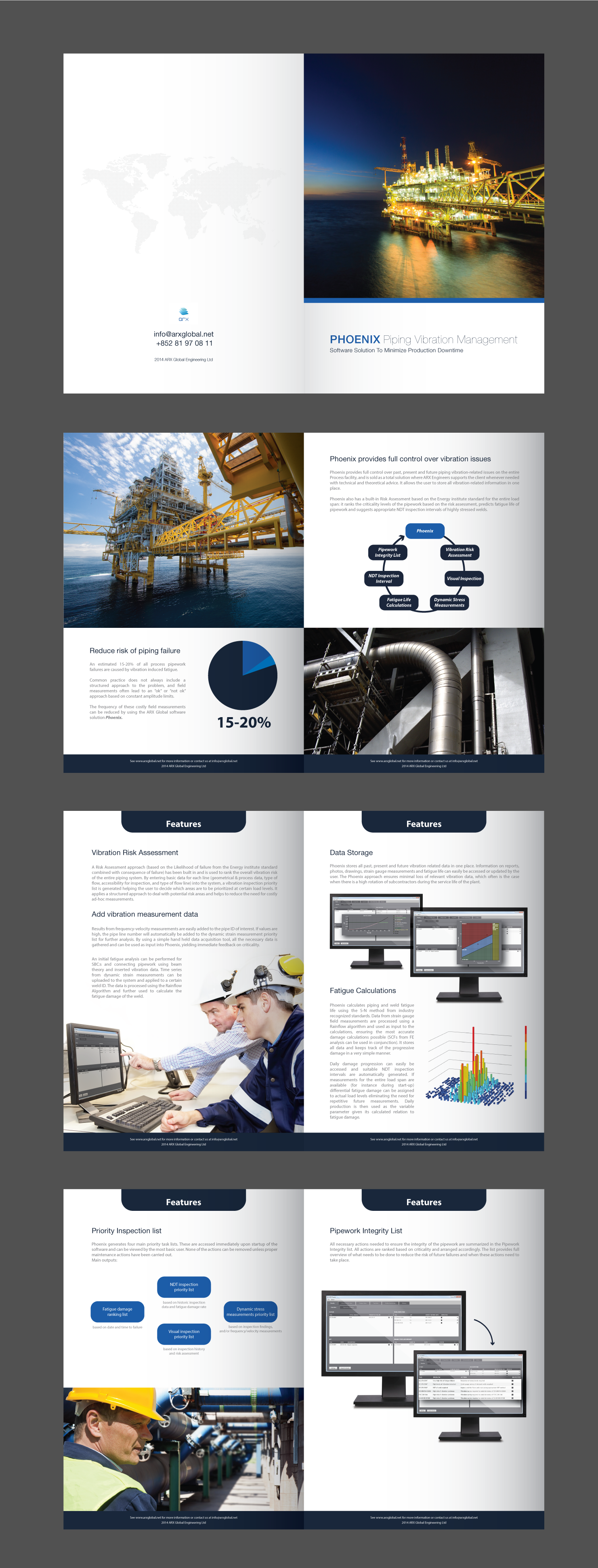 Create a brochure for software program for oil platforms