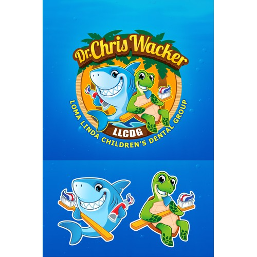 Children's Dental Group Seeks Fun and Lovable Shark and Sea Turtle Logo