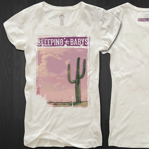 T-shirt design for Sleeping Babys - 2 piece band