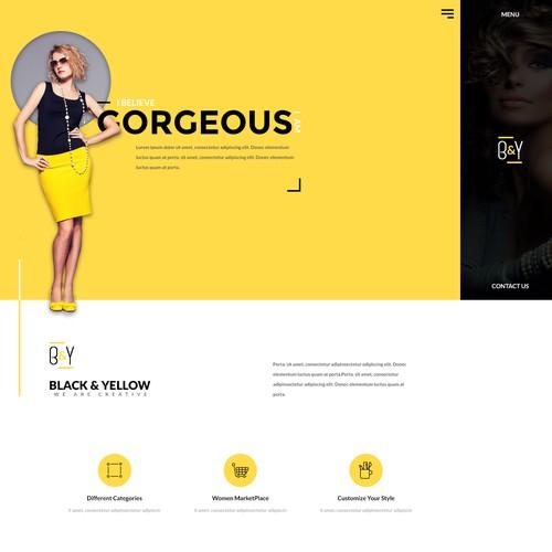 Black & Yellow Fashion Logo and website