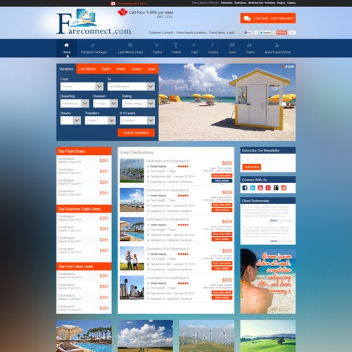 High Exposure Design for an Online Travel Agency