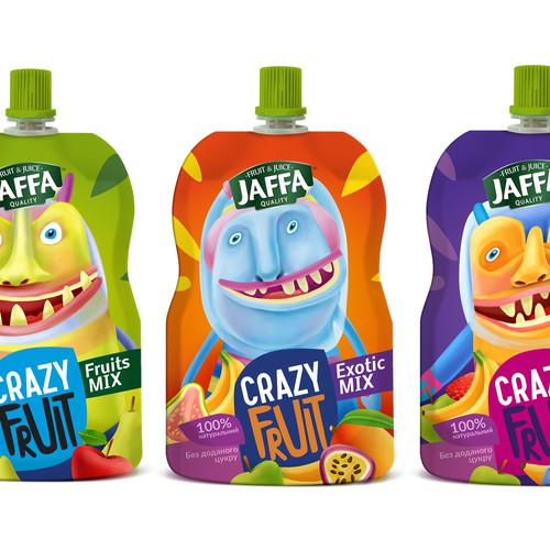 Design a package of Kids Fruit Pouches
