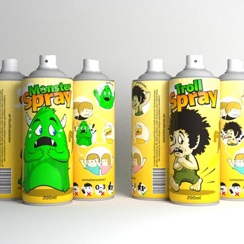 design of monster spray