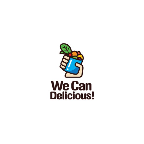 Creative Illustrative Logo for We Can Delicious!