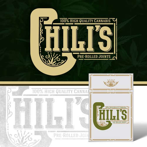 "Vintage logo design for ""Chili's pre-rolled joints"""
