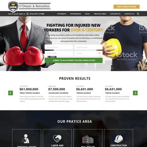 Web Design for O'Dwyer & Bernstien, LLP