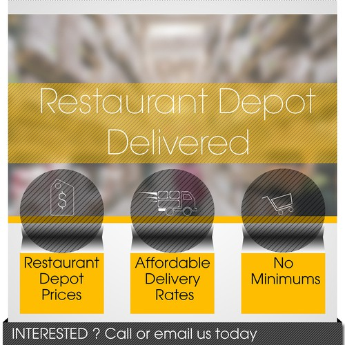 Create a beautiful email template to promote a new service to restaurants!