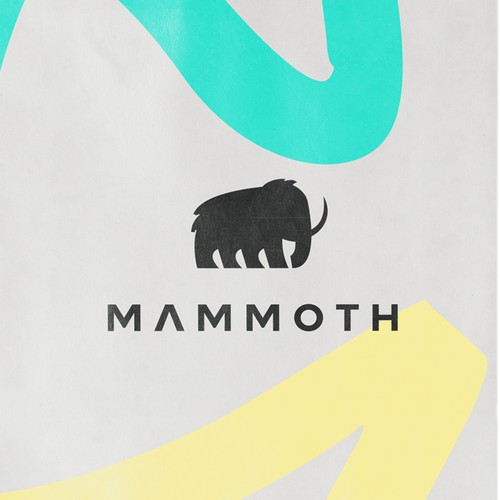 Mammoth logo design for grocery bag Company