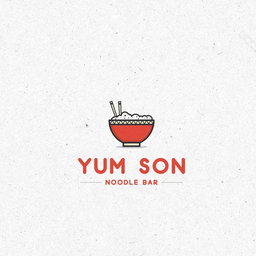First draft and presentation of the Yum Son logo .