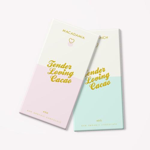 Tender Loving Cacao Chocolate Bar Packaging