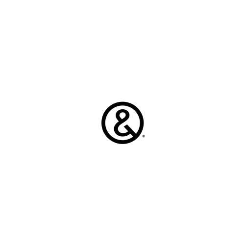 Bold and simple logo using a unique-shaped ampersand