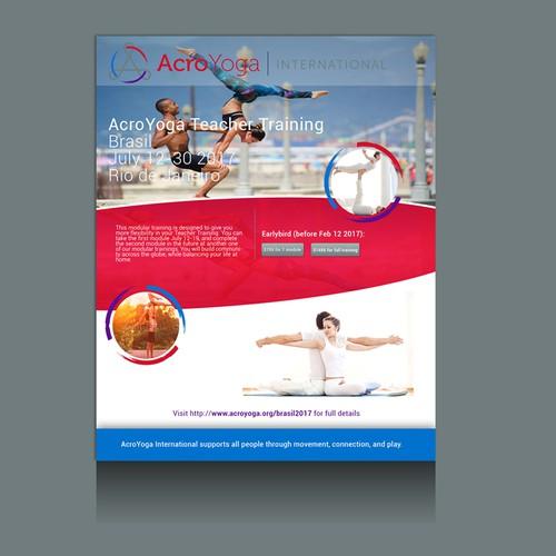 Flyer concept for Yoga