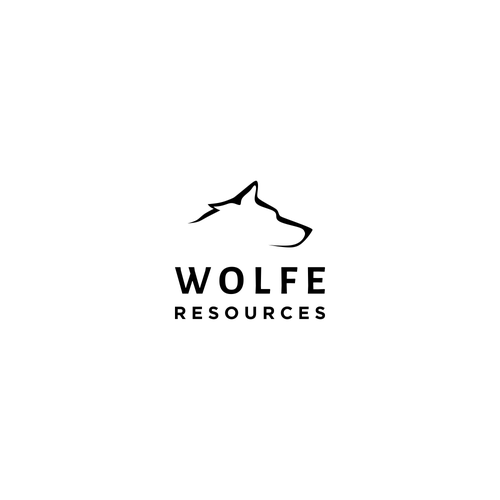 Minimalist logo for geological experts team: Wolfe Resources