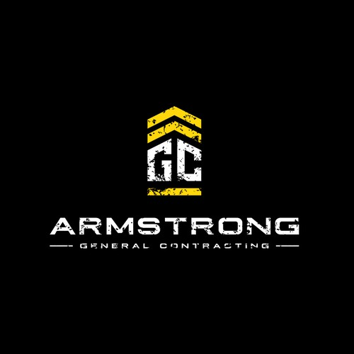 Create a rustic and capturing logo for Armstrong GC construction company.