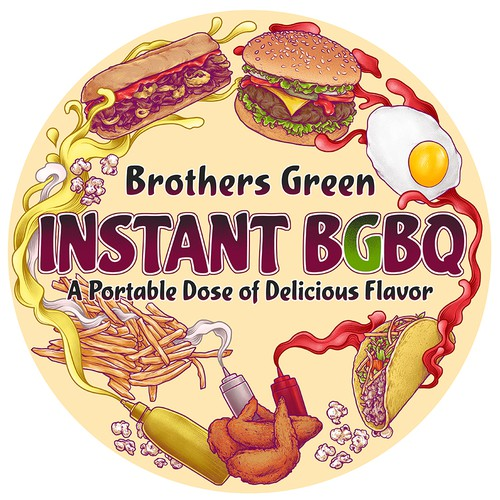 Brothers Green BGBQ label