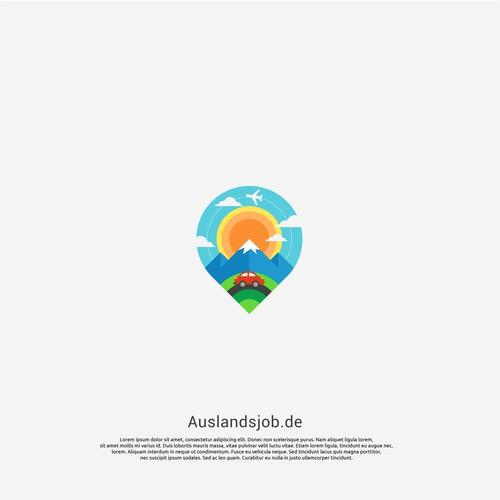 logo concept for auslandsjob