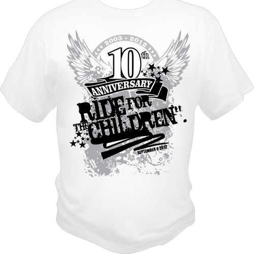 Create the next design for 10th Anniversary - Ride For The Children