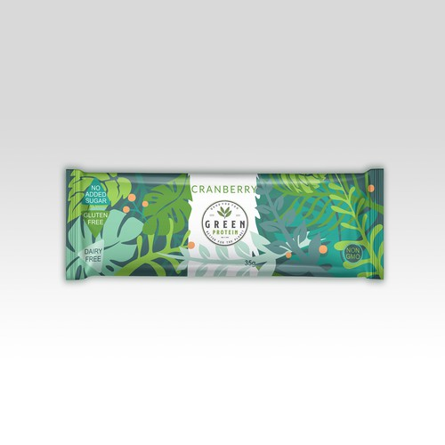 Sachet wrap label for Green protein