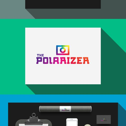 "Vintage ""The Polarizer"" logo"