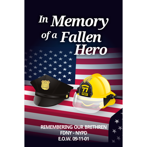 Create the next design for Fallen Hero Image