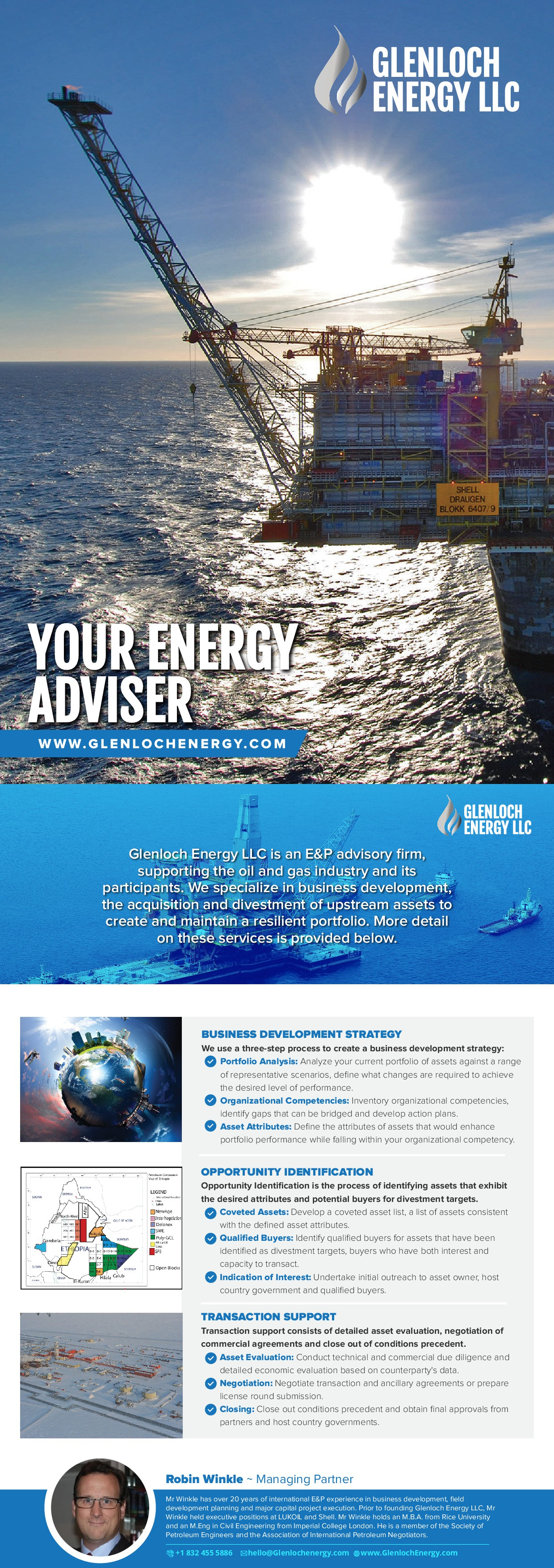 Glenloch Energy LLC Business Development Flyer