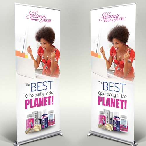 Stand Up Banners for Weight Loss