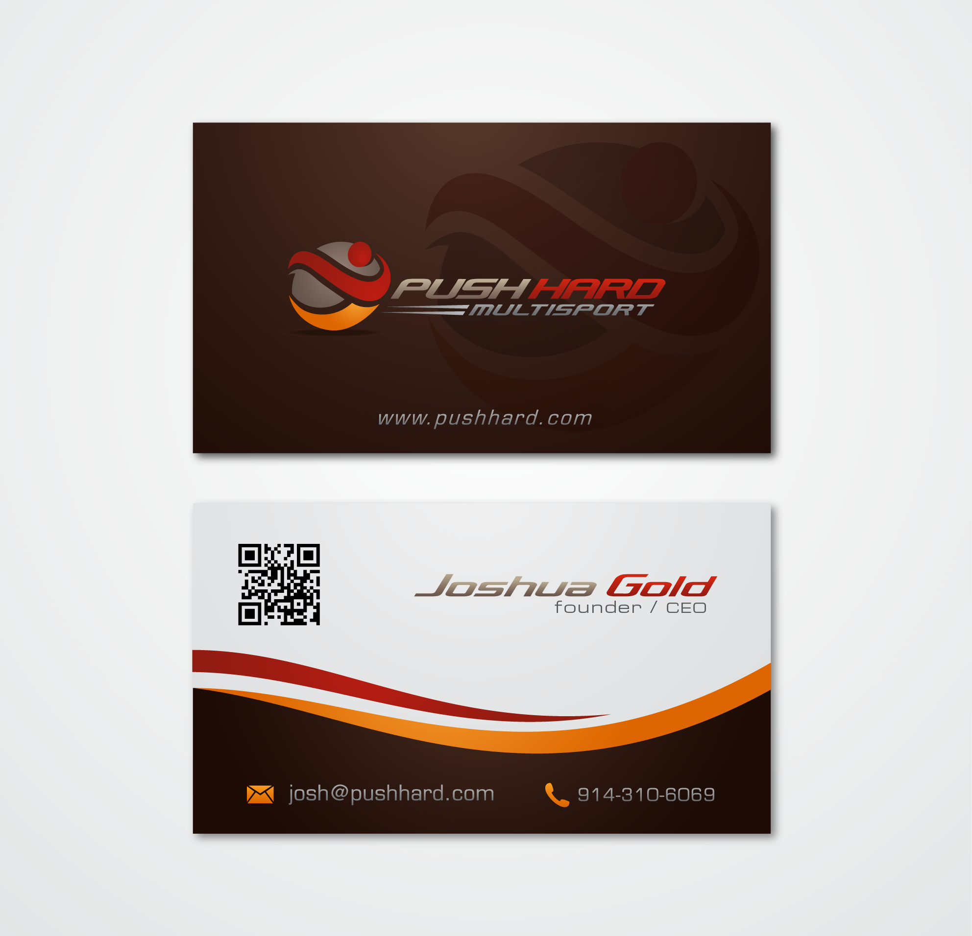 Push Hard Multisport needs a new logo and business card