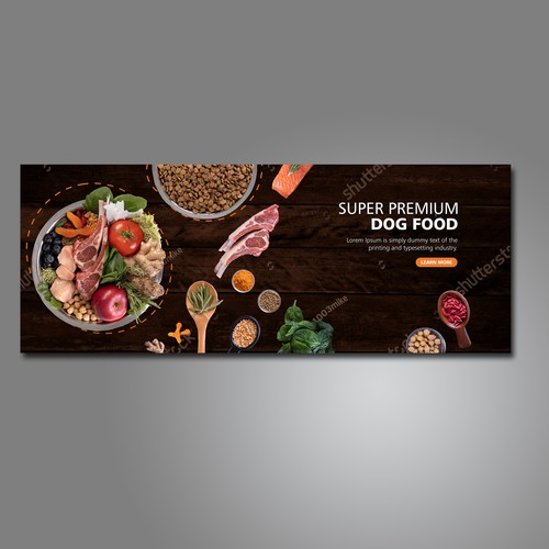 Dog Food Banner Design