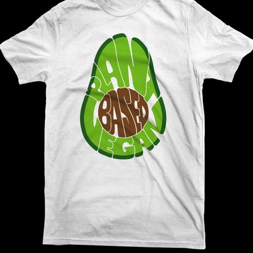 Food Shirt Avocado Design