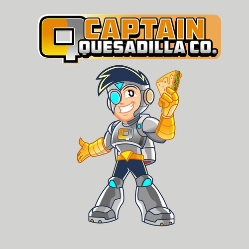 Design an inspiring super hero mascot for my quesadilla franchise!