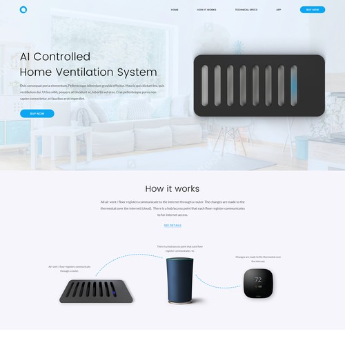 Technology home product with main focus on tech side
