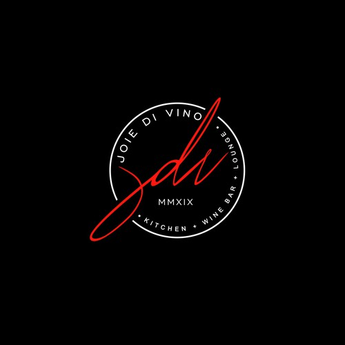 Clean and Minimalist logo design concept for Joie De Vino.