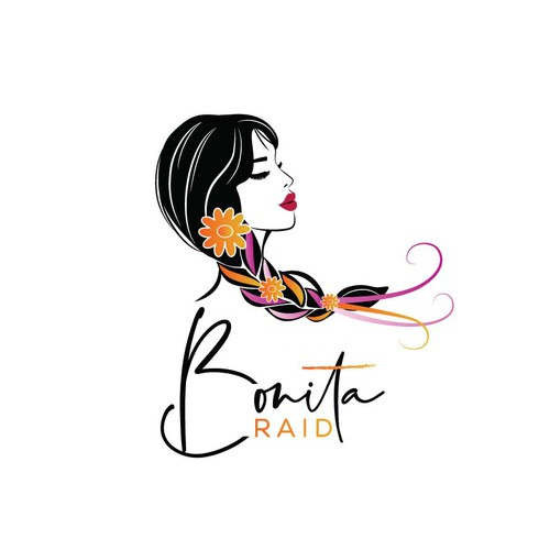 Logo for a hair accessory