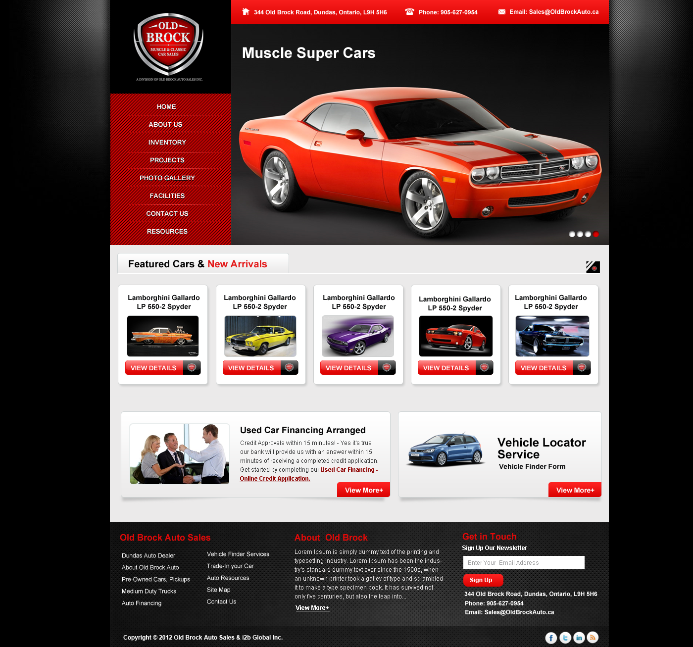 New website design wanted for Old Brock Muscle and Classic Car Sales