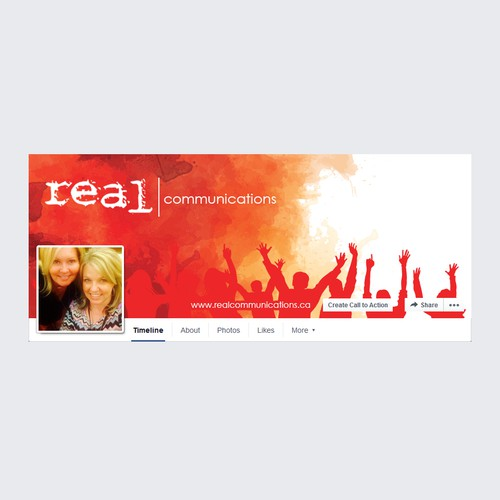 REAL - Event Company Facebook page design