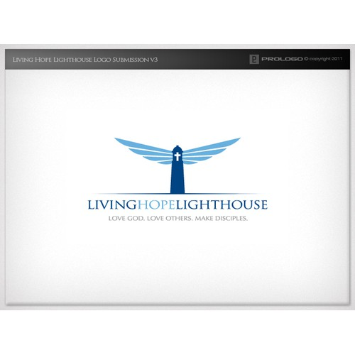 "Create a logo for ""Living Hope Lighthouse"" Church.  Simple & Creative.  Less is more."