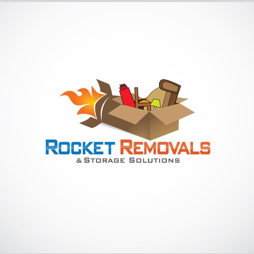 Rocket Removals and storage solutions needs a new logo and business card