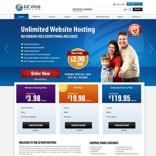 Ez Web Hosting Inc needs a new website design