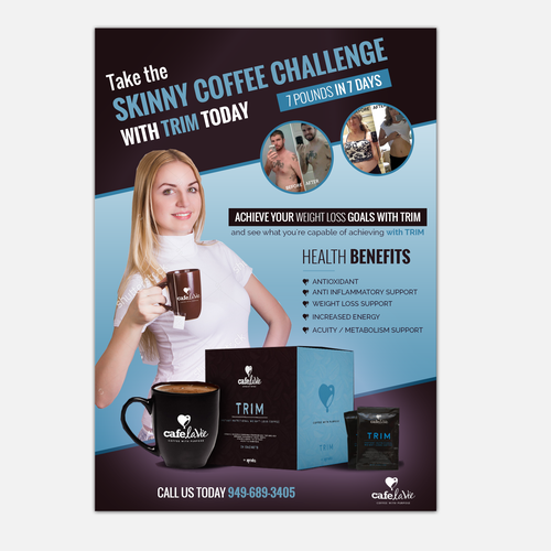 WeightLoss Challenge to encourage people to drink our Coffee