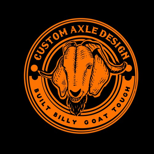 vintage handdrawn goat logo