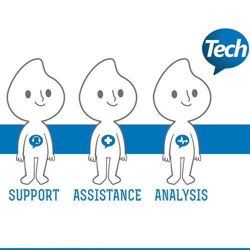 "Mascot for ""Tech to Us"" - Tech Support for Your Home or Business"