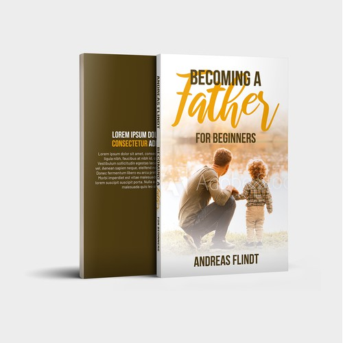 "Book Cover Design Concept for ""Becoming a Father"" Book"