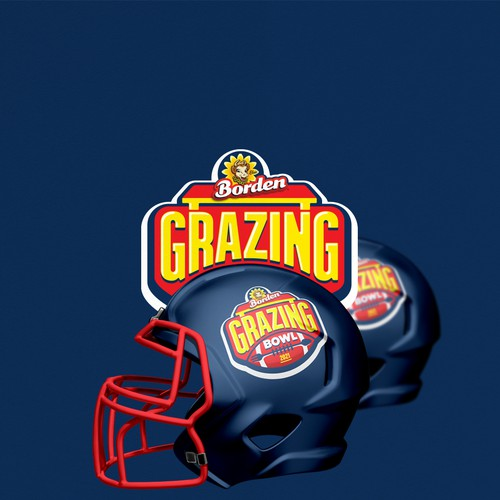 Americanl footbal inspired logo for famous cheese brand