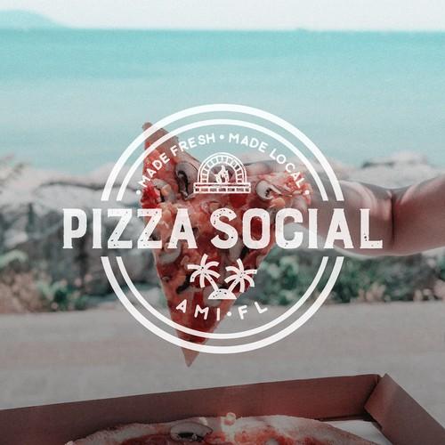Logo for Pizza Social