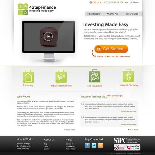 website design for 4StepFinance