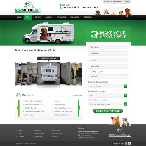 NovaMobileVet Home page design