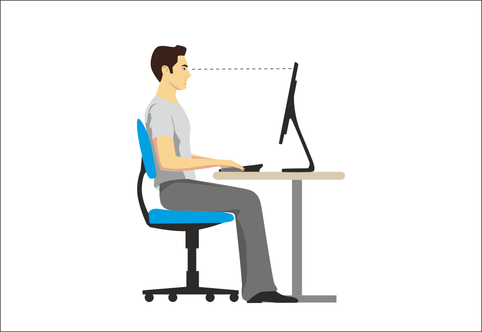 """""""How to Sit at a Computer"""" illustration"""
