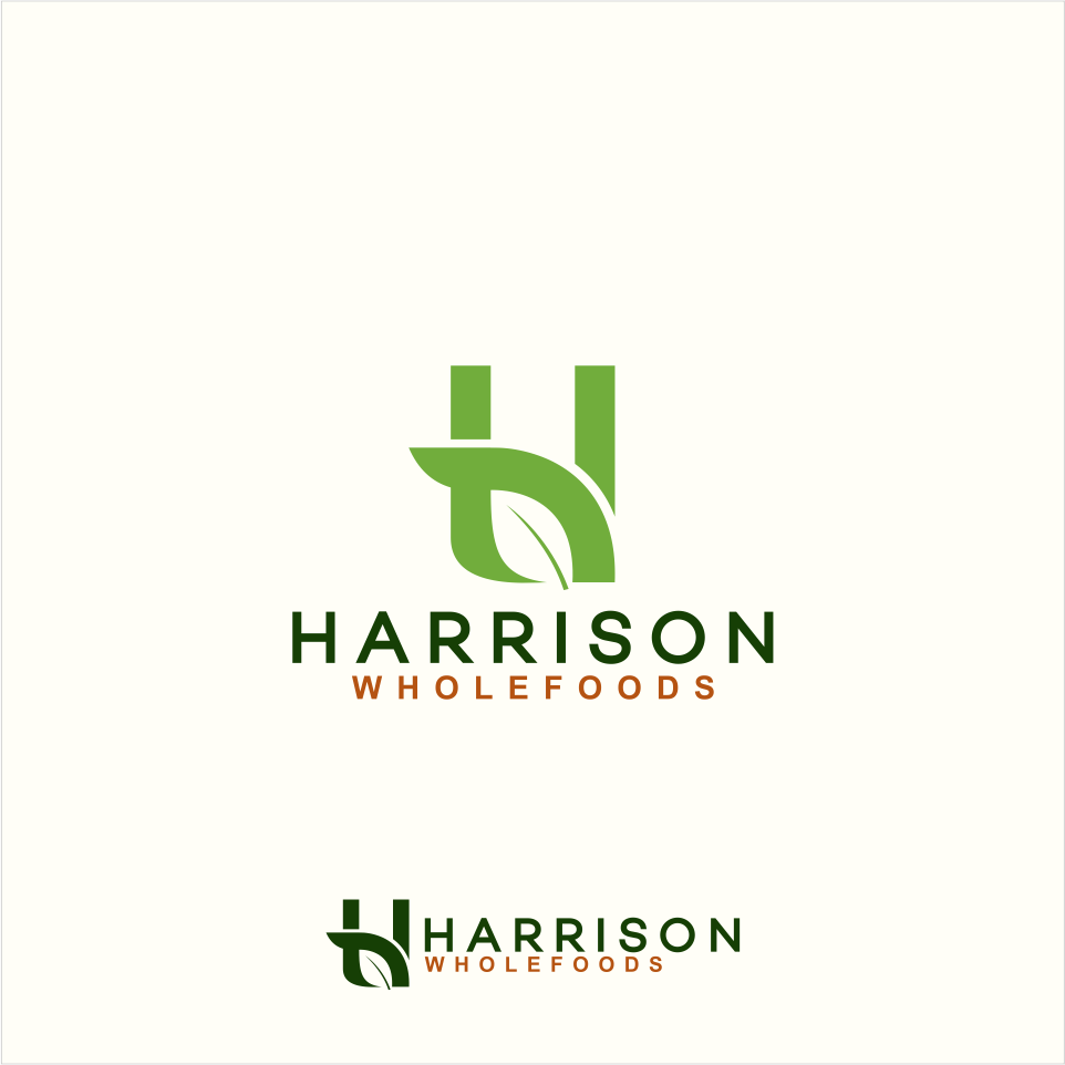 Harrison Wholefoods -a new logo for new business!